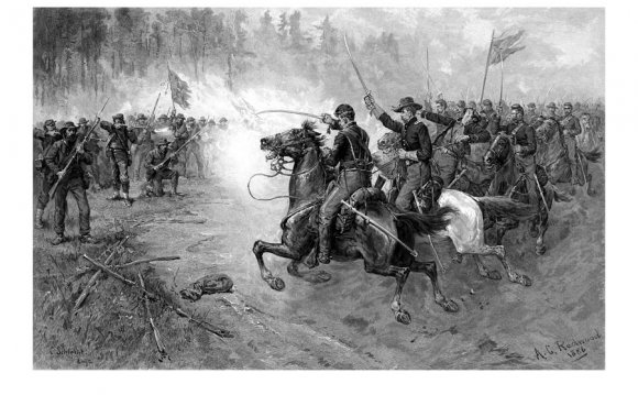 Civil War Union Cavalry Charge