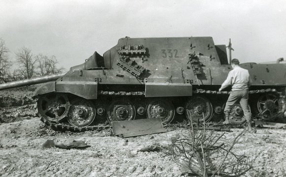 Destroyed German Jagdtiger