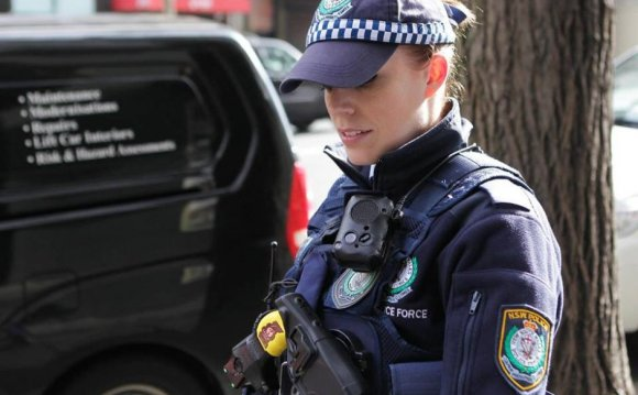 NSW policewoman wearing