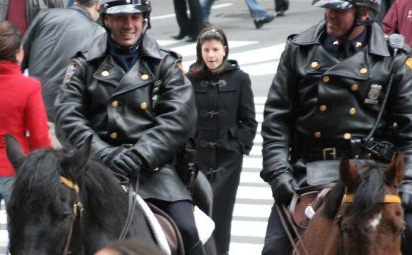 Horse mounted New York city