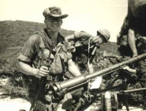 John Dupla, a Combat Tracker during the Vietnam War with Combat Tracker Team 7 attached to the 1st Cavalry Division (Airmobile), 9th Cavalry Regiment, poses with a confiscated North Vietnamese Army recoilless rifle in Vietnam. CTT 7 was later dubbed the 62nd Infantry Platoon Combat Trackers before the program ended in the early 1970s. The purpose of a CTT was to re-establish contact with the enemy and locate lost or missing friendly personnel. The unit was usually supported by a platoon or larger force and worked well ahead of them to maintain noise discipline and the element of surprise. (Courtesy photo)