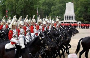 The Life Guards at Trooping the Colour