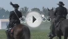 Hd Stock -Civil War - Union Cavalry During Battle Stock