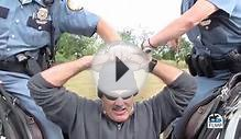 Lexington Kentucky Mounted police field interview and arrest