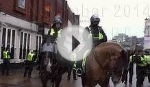 Mounted Police and Their Horses On Duty Luton EDL 22 Nov 2014