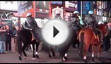 NYPD Mounted Police in Times Square New York City
