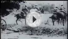 World War One. British cavalry teams galloping their